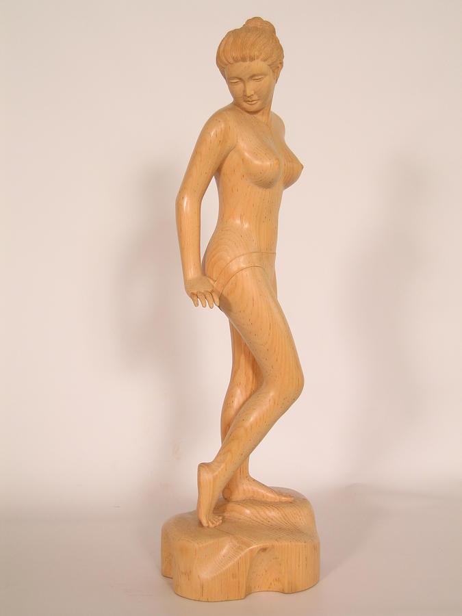 Girl Sculpture - Girl by Thu Nguyen