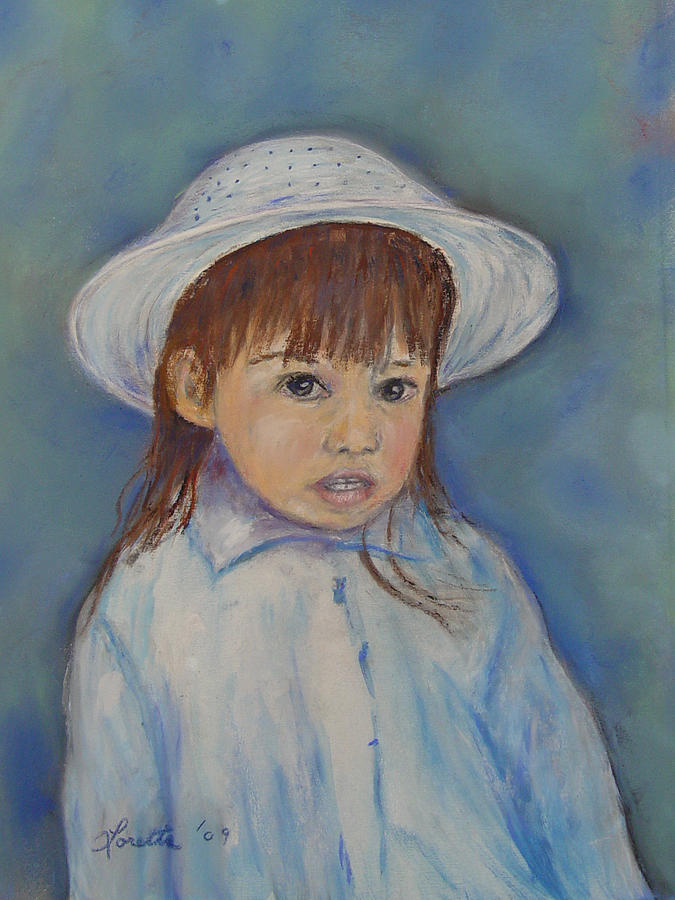 Girl Painting - Girl With A Hat by Loretta Luglio