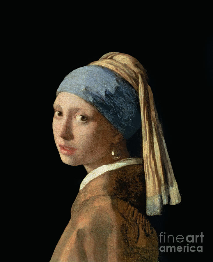 Jan Vermeer Painting - Girl With A Pearl Earring by Jan Vermeer