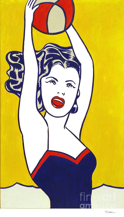 Roy Lichtenstein Painting - Girl With Ball - Pop Art - Roy Lichtenstein by  Doc Braham 83067b15aeb88