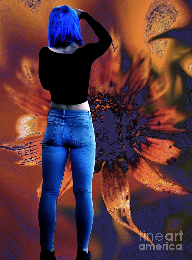 Girl With Blue Hair by Arthur Miller