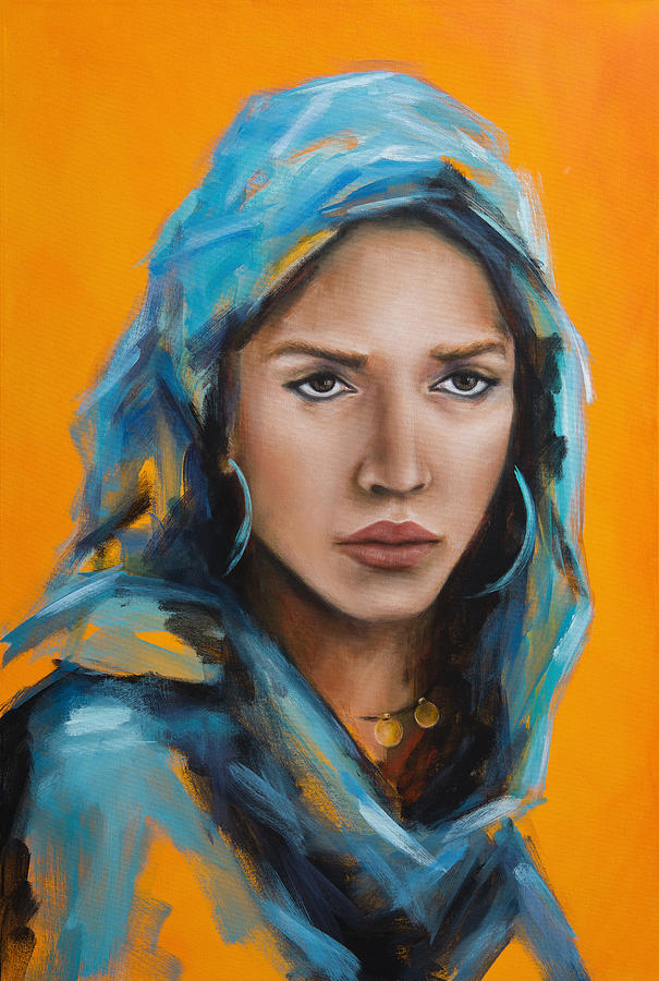 Girl with Blue Veil by Nicole Daniah Sidonie