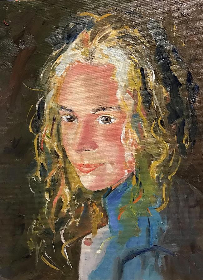 Portrait Painting - Girl With Curls by Judith Visker