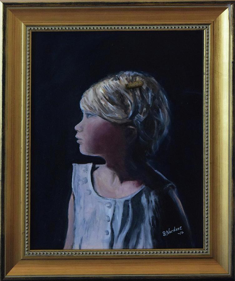 Girl with Gold Barette by Sandra Nardone
