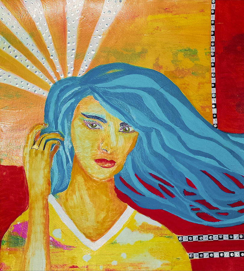 Girl with the Blue Hair by Elise Boam
