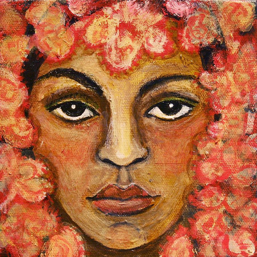 Figurative Painting - Girl with Veil by Ci Ci Segura Gonzalez