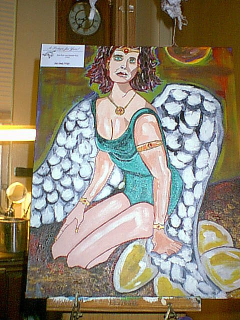 Girl With Wings Painting by Jeffrey Foti
