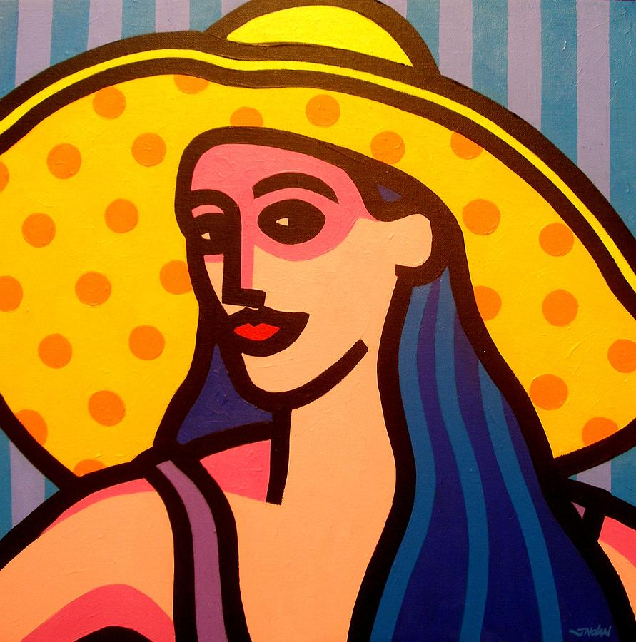 Beauty Painting - Girl With Yellow Hat by John  Nolan