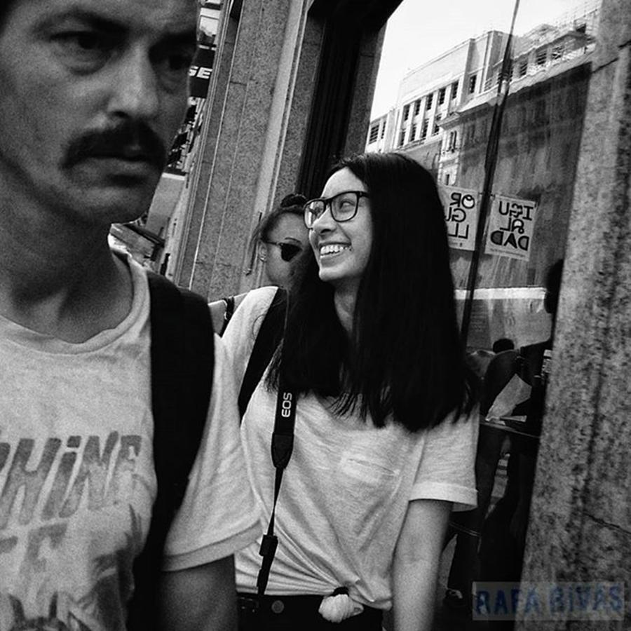 City Photograph - #girl #woman #smile #glasses #fashion by Rafa Rivas