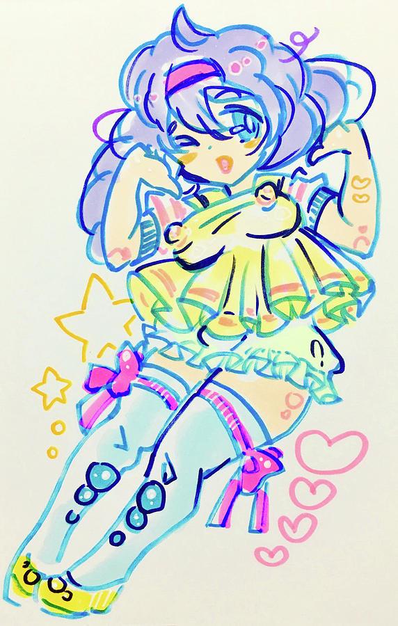 Illust Drawing - Girl04 by Kirin Yotsuya