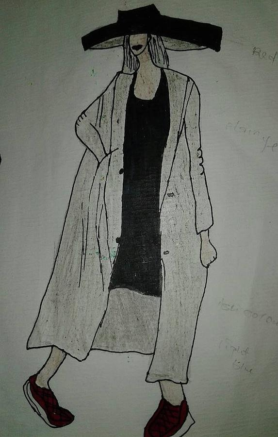 Fashion Illustration Drawing - Girlboss by Mercy Eze