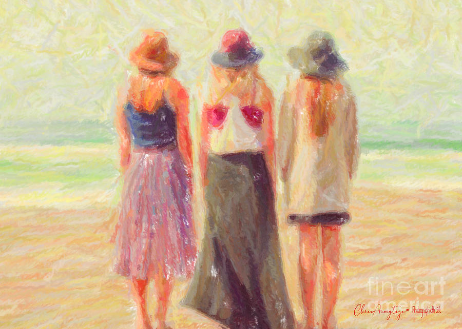 Girlfriends at the Beach by Chris Armytage