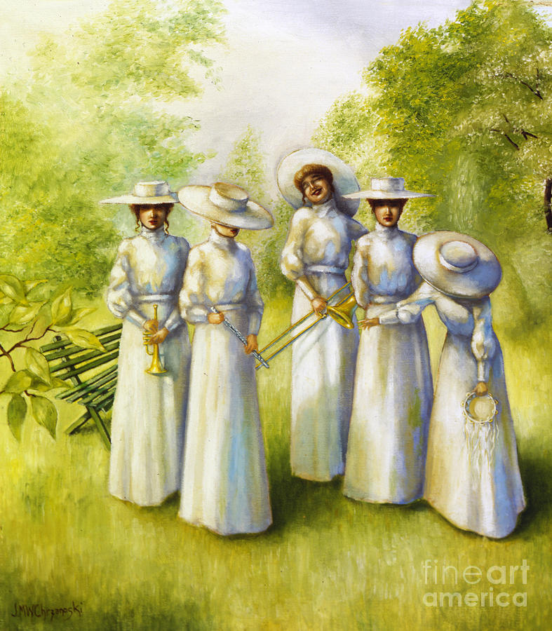 Girls Painting - Girls In The Band by Jane Whiting Chrzanoska