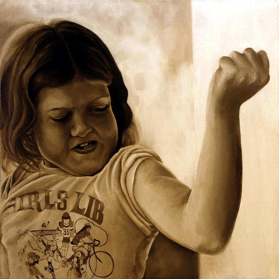 Photorealism Painting - Girls Lib by Anni Adkins