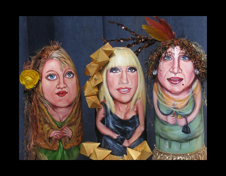 Girls Painting - Girls Night Out by Cathi Doherty