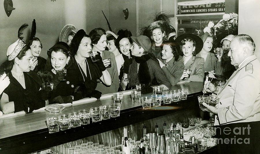 1903 Photograph - Girls Night Out by Jon Neidert
