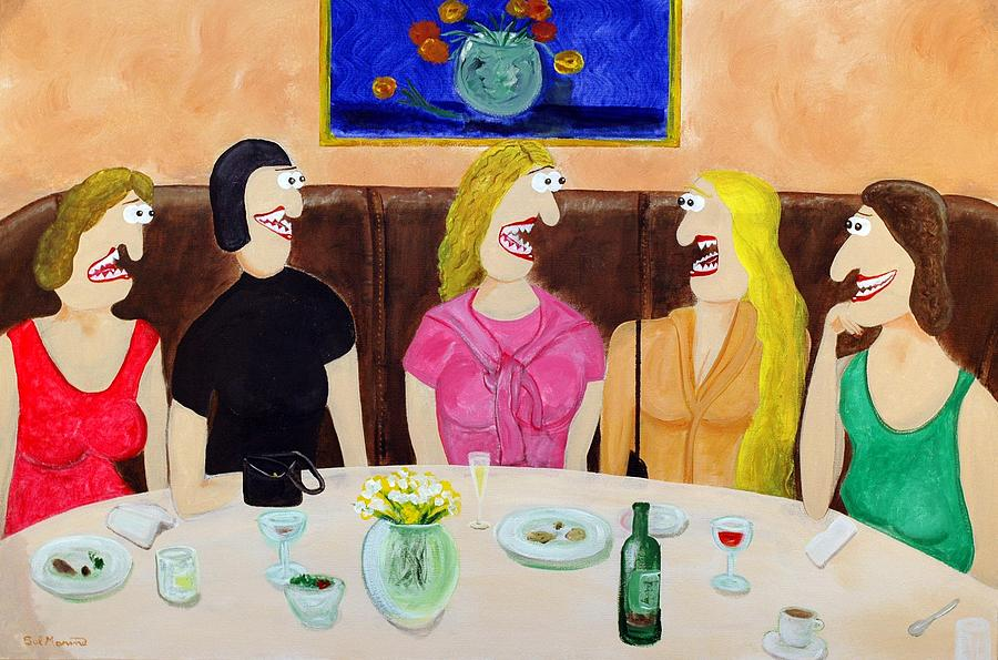 Girls Night Out Painting - Girls Night Out by Sal Marino