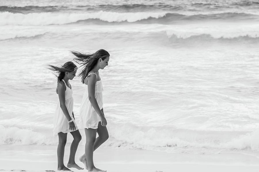 Girls Photograph - Girls On Beach by Lisa Lemmons-Powers