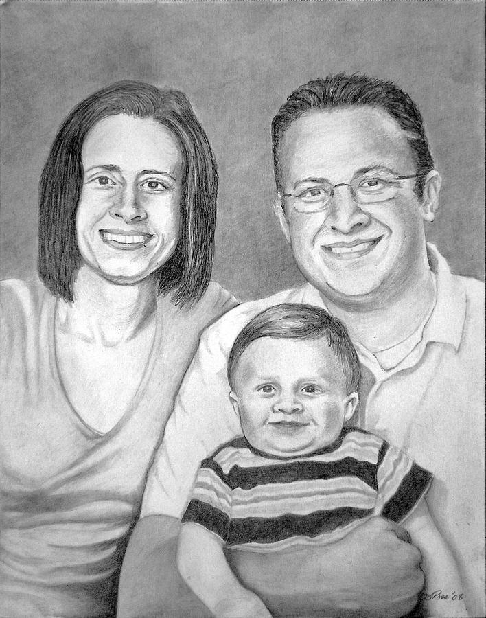 Portraits Drawing - Girz Project by Darrell Ross
