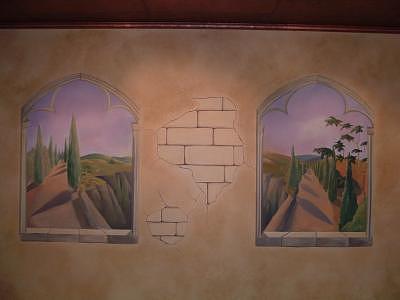 Hills Painting - Githic Windows by Leyla Uzdenova