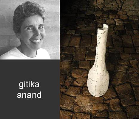 White Ceramic Art - Gitika by Cunha Ceramica