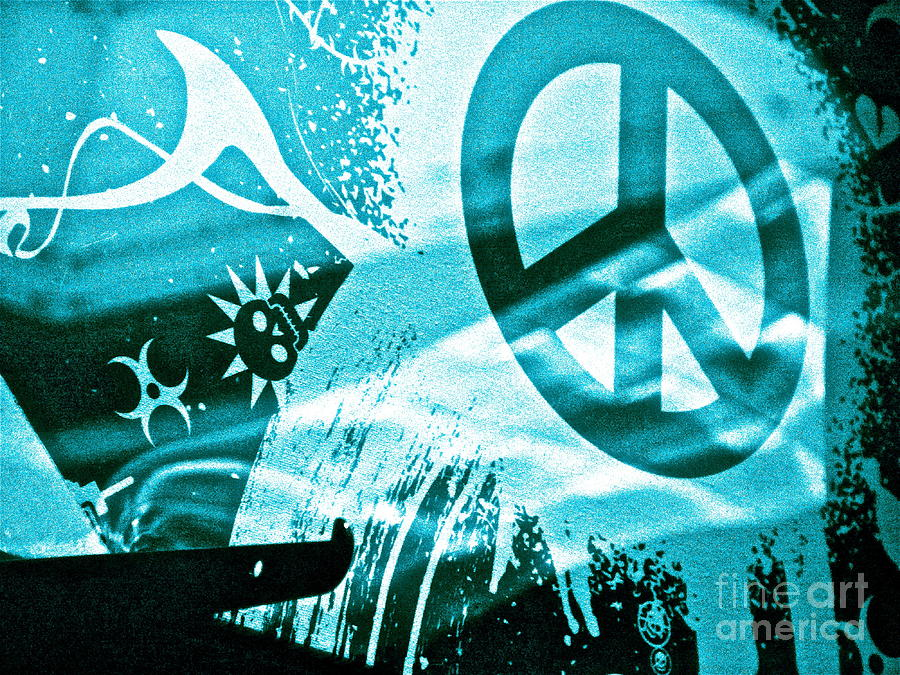 Peace Symbol Photograph - Give Peace A Shirt by Chuck Taylor