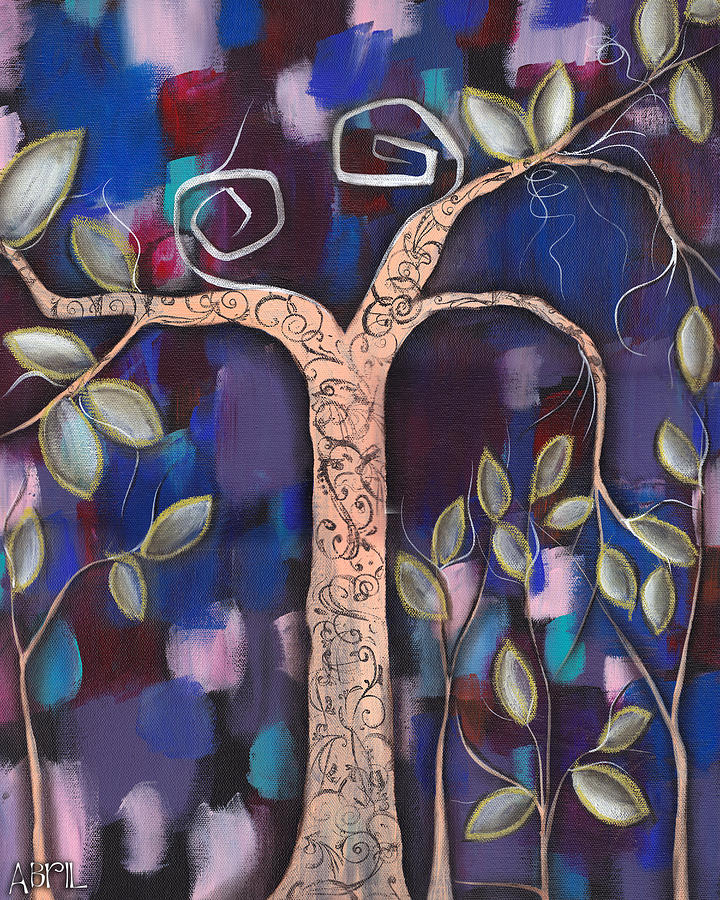 Whimsical Tree Painting - Giver Of Life by  Abril Andrade Griffith