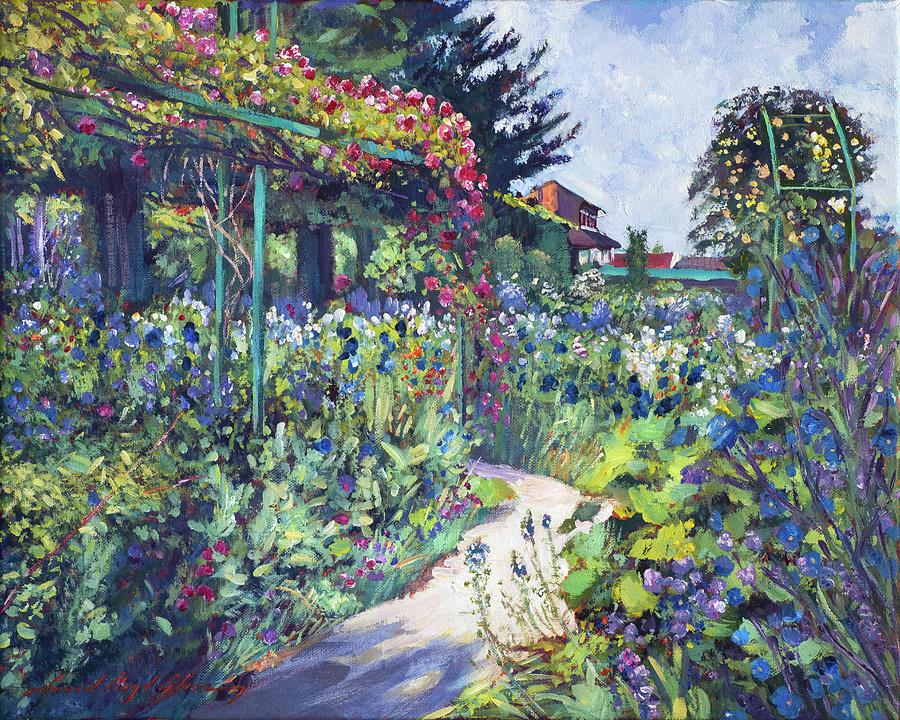 Gardens Painting   Giverny Garden De Monet By David Lloyd Glover