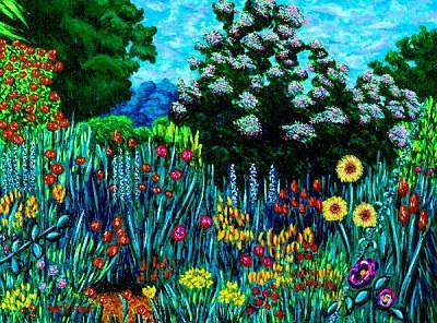 Giverny Painting - Giverny Garden Study by Max R Scharf