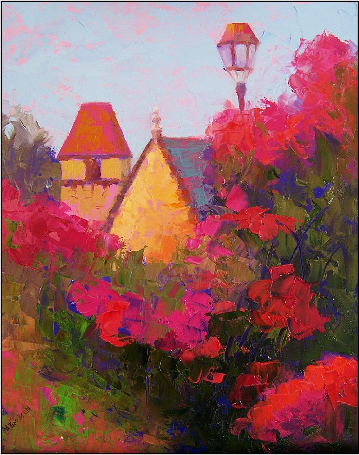 Impressionism Painting - Giverny Rooftops by Maryanne  Jacobsen