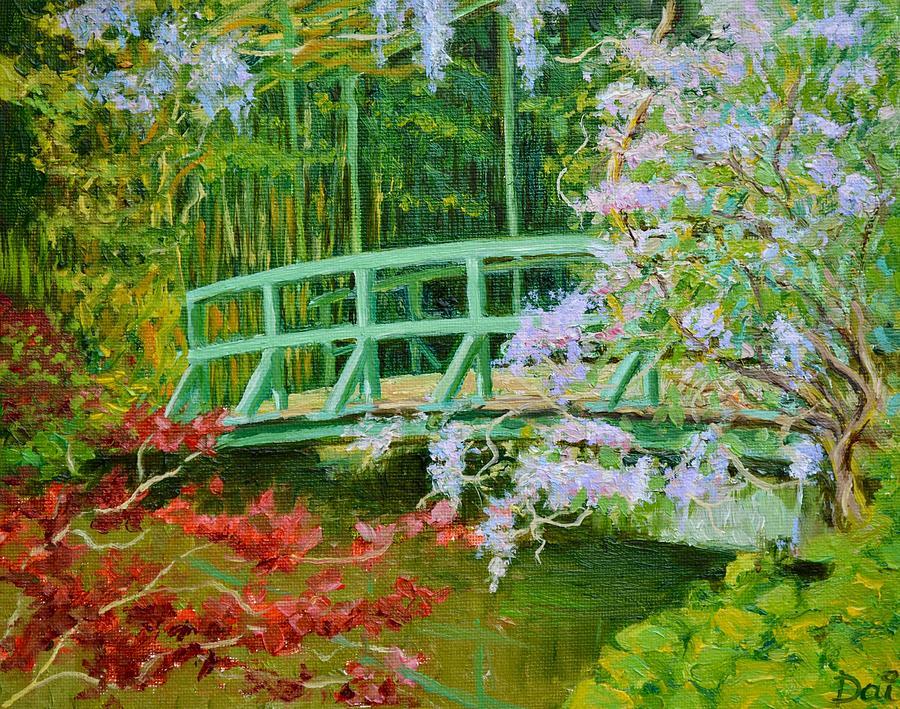 Pond Painting - Giverny Wisteria Bridge of Impressionist Claude Monet by Dai Wynn