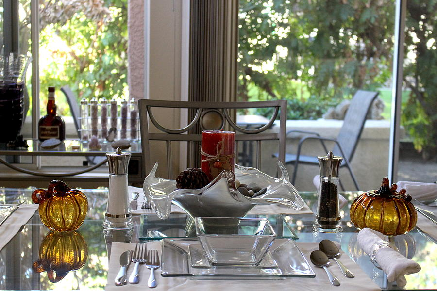 Thanksgiving Photograph - Giving Thanks in California Thanksgiving Table by Colleen Cornelius