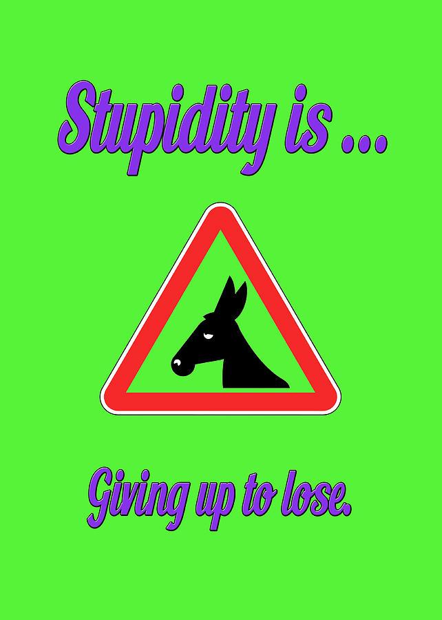 Funny Digital Art - Giving Up Bigstock Donkey 171252860 by Mitchell Watrous