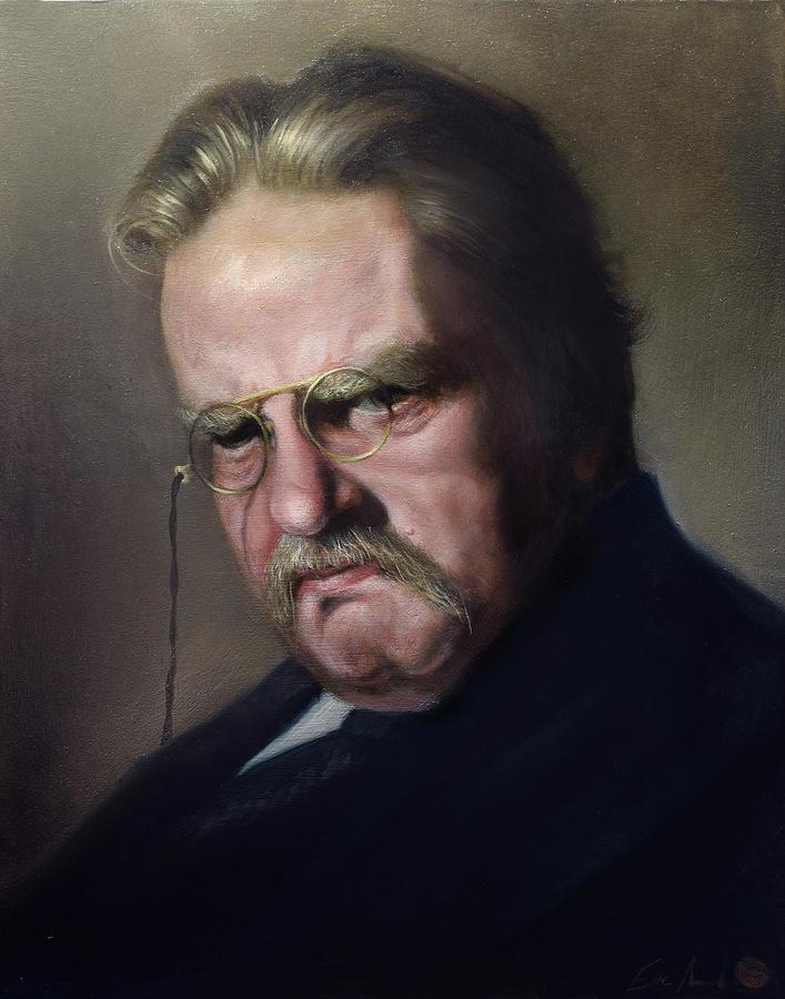 Gk Chesterton Painting - G.K. Chesterton Painting by Eric  Armusik