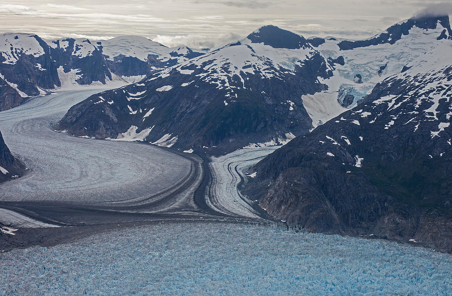 Alaska Photograph - Glacial Curves by Mike Reid