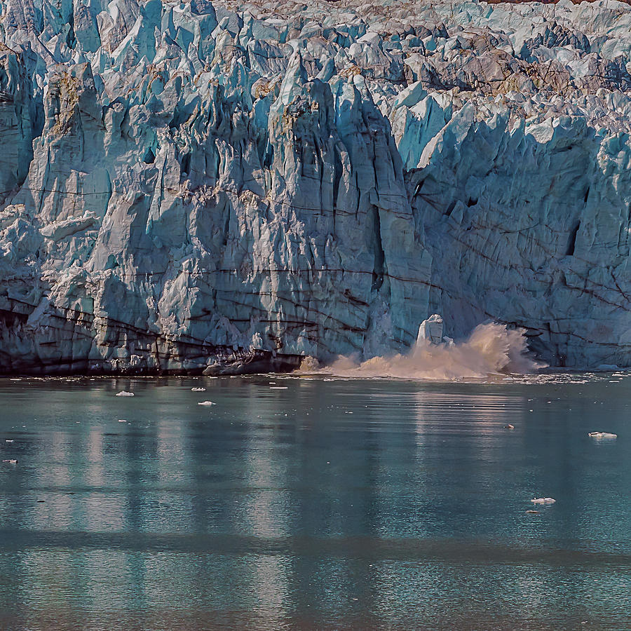 Glacier Bay Ice Calving by Brenda Jacobs