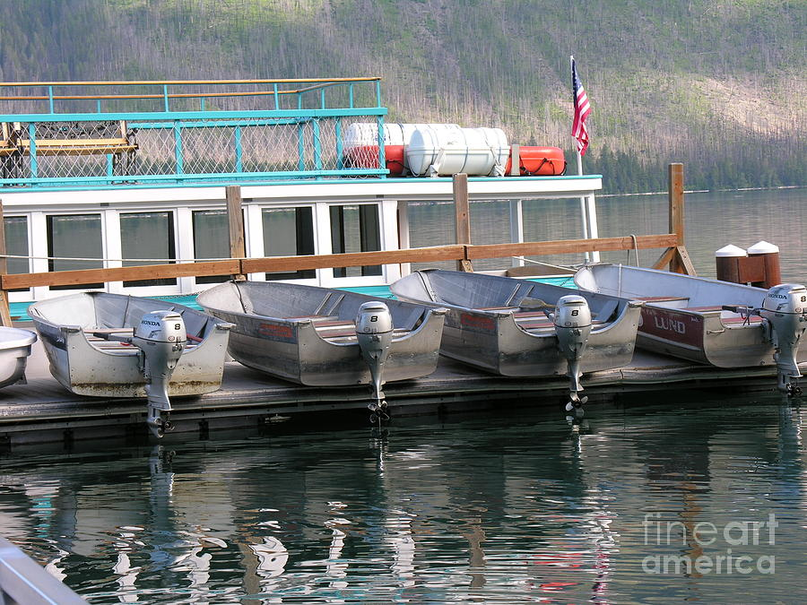 Boats Photograph - Glacier Boating by Diane Greco-Lesser