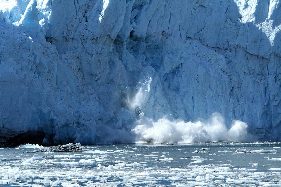 Glacier Photograph - Glacier Calving by Dave Clark