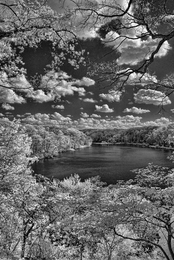 Infrared Photograph - Glacier Lake by Michael McGowan