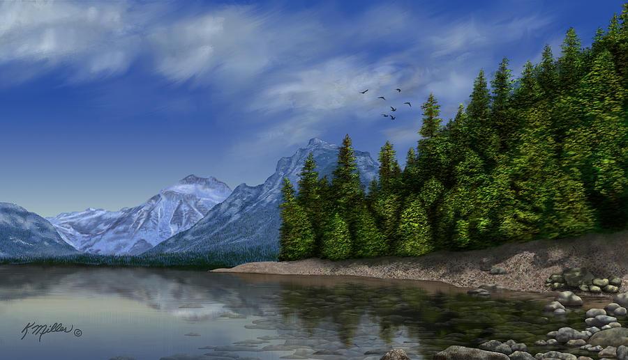 Glacier National Park Painting - Glacier Naional Park by Kathie Miller