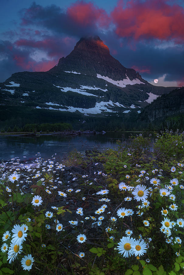 America Photograph - Glacier National Park At Dawn by William Freebilly photography