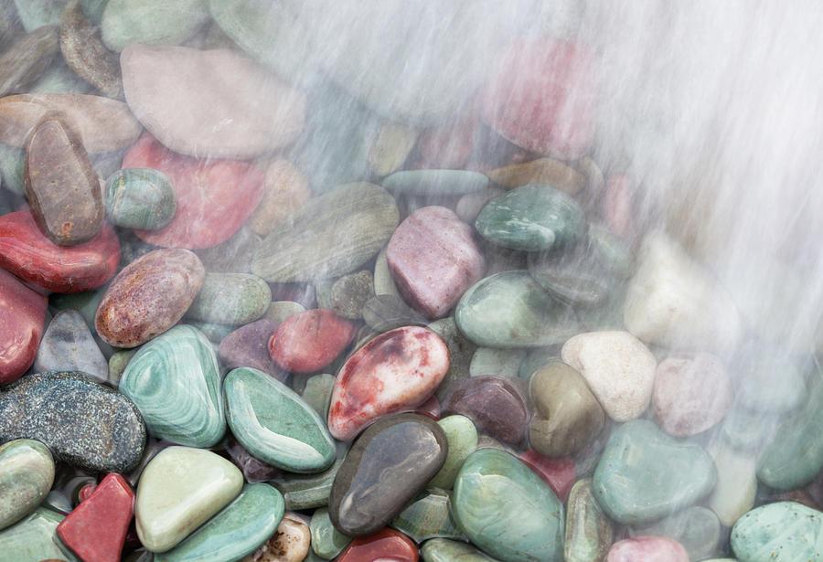 Glacier National Park Photograph - Glacier National Park Saint Marys Lake Colored Stones by Mark VanDyke