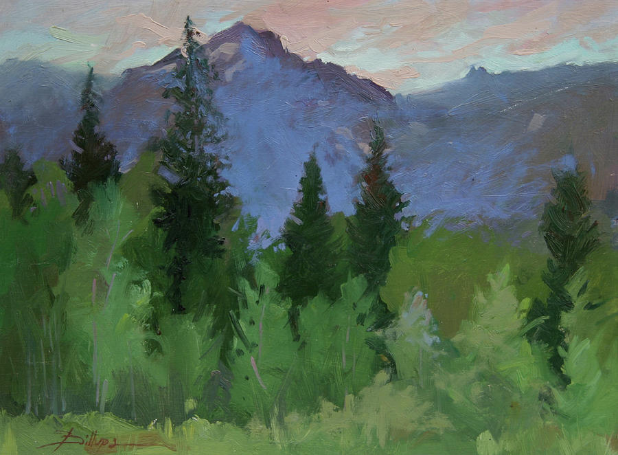 Plein Air Painting Painting - Glacier Natl Park - Plein Air -  Rising Wolf Ranch by Betty Jean Billups