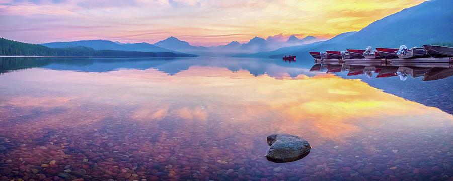 Glacier Photograph - Glacier Pastels by Rob Wilson