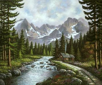 Glacier Water  Painting by Suleyman Mavruk