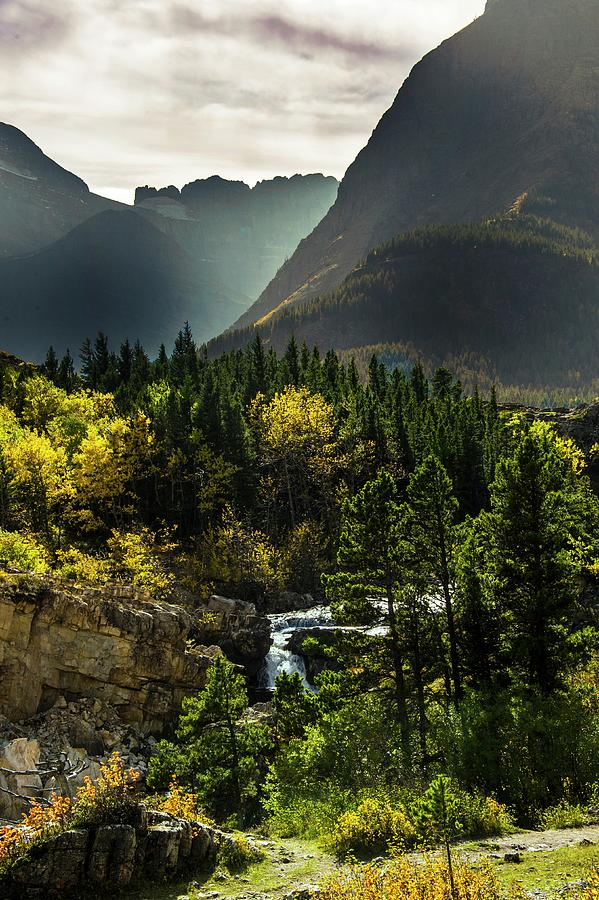 Glacier National Park Photograph - Glacier waterfall by Roy Nierdieck
