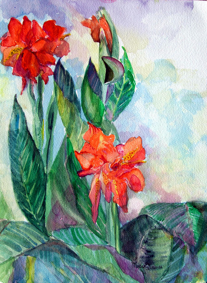 Nature Painting - Glad To Be by Mindy Newman
