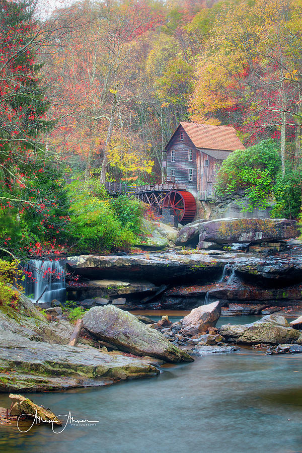 Mill Photograph - Glade Creek Grist Mill by Allen Ahner