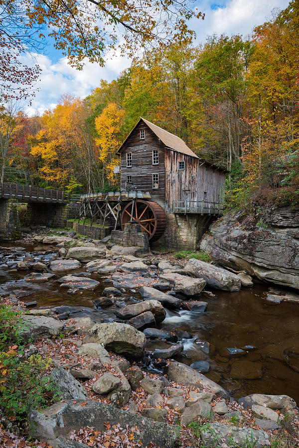 Glade Creek Grist Mill Babcock State Park by Rick Dunnuck