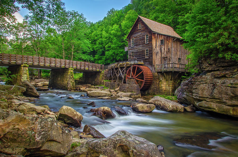 Glade Creek Grist Mill Babcock State Park Wv Photograph By Ina Kratzsch
